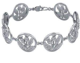 Thistle Bracelet, Outlander Jewelry, Celtic Jewelry, Scotland Jewelry, Nature Jewelry, Wiccan Jewelry, Mom Gift, Girlfriend Gift, Wife Gift