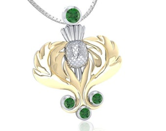 Crystal Scottish Thistle Dream Necklace