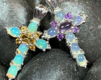 Celtic Cross, Opal Jewelry, Graduation, Mom Gift, Anniversary Gift, Bridal Jewelry, First Communion Gift, Religious Jewelry