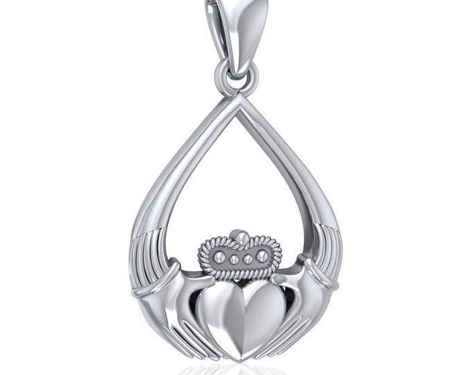 Claddagh Necklace, Celtic Necklace, Anniversary Gift, Bridal Jewelry, Gift for Her, Mom Gift, Wife Gift, Girlfriend Gift, Best Friend Gift