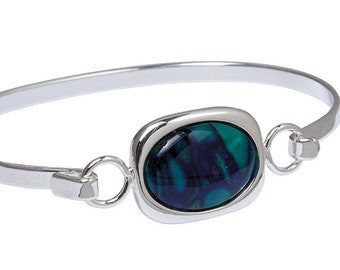 Scotland Bracelet, Celtic Jewelry, Heather Gem, Wiccan Jewelry, Graduation Gift, Anniversary Gift, Bangle Bracelet, Nature Jewelry, Boho