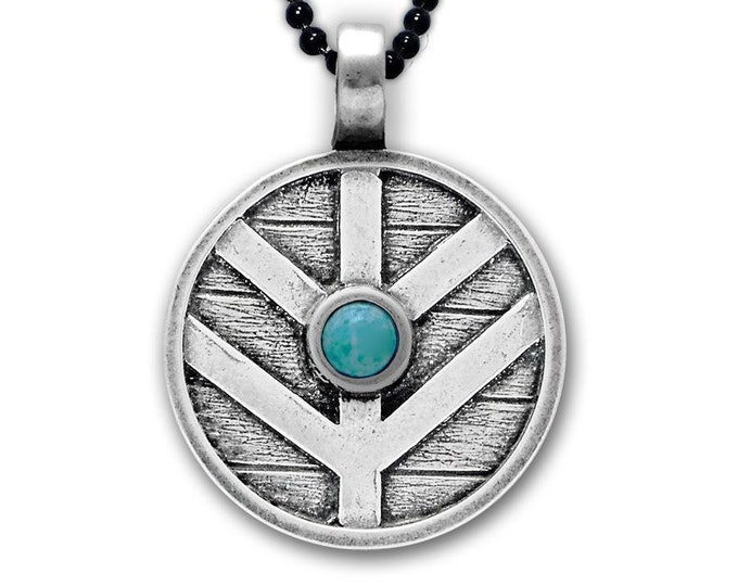Viking Shield Necklace, Norse Necklace, Viking Necklace, Father's Day Gift, Gift for Her, Celtic Jewelry, Anniversary, Graduation