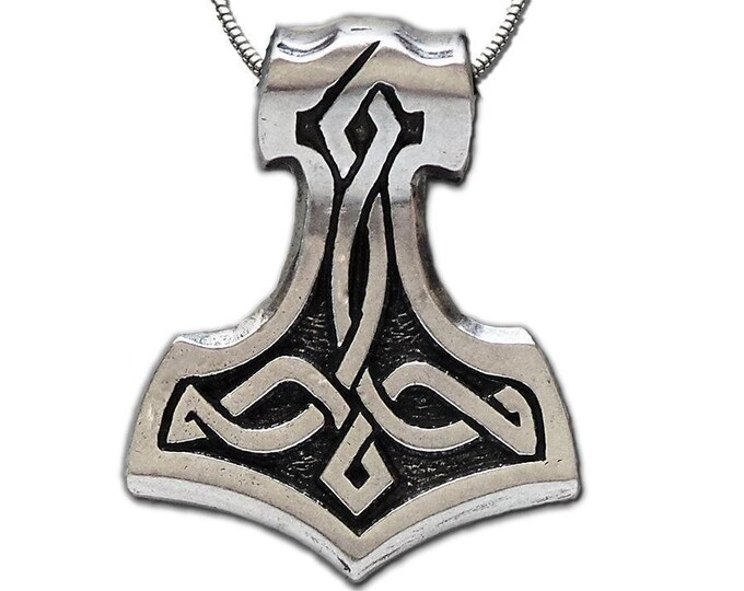 Thor's Hammer Necklace, Norse Necklace, Viking Necklace, Father's Day Gift, Gift for Her, Celtic Jewelry, Mjöllnir, Anniversary, Graduation
