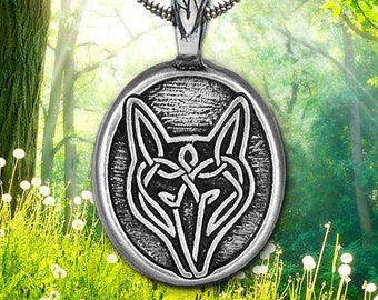 Fox Necklace, Nature Necklace, Celtic Jewelry, Irish Jewelry, Animal Jewelry, Animal Necklace, Woodland Jewelry, Friendship Gift, Mom Gift