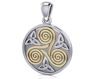 Spiral Necklace, Celtic Jewelry, Irish Jewelry, Triskele Jewelry, Wiccan Jewelry, Anniversary Gift, Pagan Jewelry, Girlfriend Gift, Mom Gift