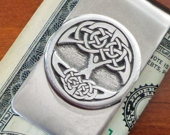 Tree of Life Money Clip, Celtic Jewelry, Father's Day, Anniversary, Gift for Him, Boyfriend, Celtic Tree, Groom Gift, Viking Jewelry
