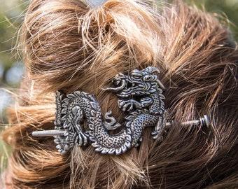 Dragon Hair Slide, Celtic Barrette, Shawl Pin, Dragon Jewelry, Celtic Jewelry, Celtic Barrette, Mom Gift, Bun Holder, Sister Gift