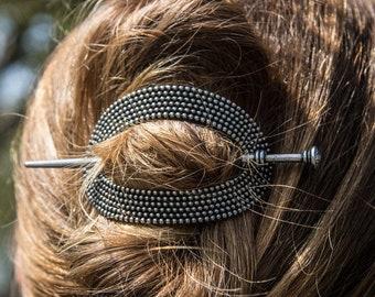 Celtic Hair Slide, Celtic Barrette, Shawl Pin, Hair Jewelry, Celtic Jewelry, Celtic Barrette, Mom Gift, Bun Holder, Sister Gift