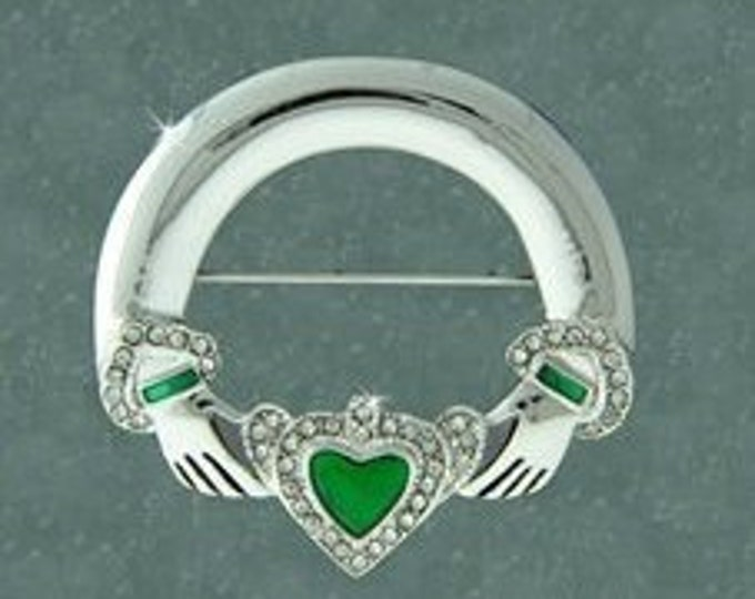 Claddagh Irish Brooch, Bride Pin, Claddagh Pin, Celtic Jewelry, Mother's Day Gift, Celtic Pin, Gift for Her