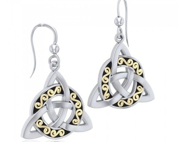 Trinity Knot Celtic Earrings, Triquetra, Celtic Knot, Celtic Jewelry, Mom Gift, Irish Jewelry, Outlander Jewelry, Graduation Gift, Wife Gift