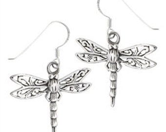 Dragonfly Earrings, Celtic Jewelry, Mom Gift, Inspirational Gift, Wiccan Jewelry, Nature Jewelry, Sister Gift, Best Friend Gift, Wife Gift