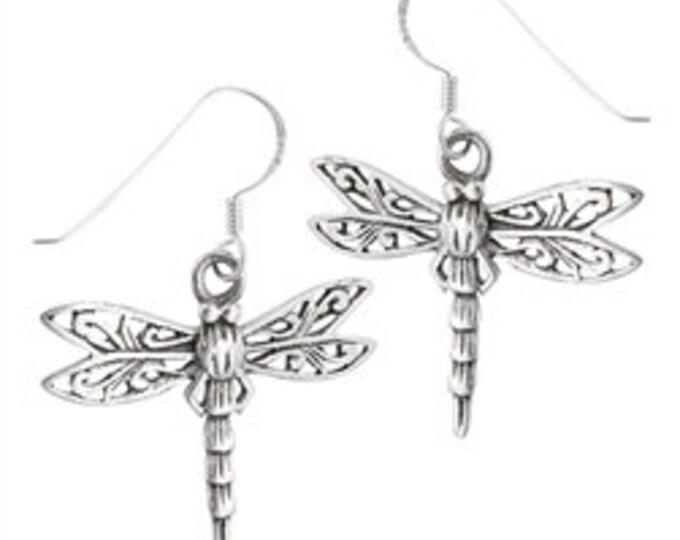 Celtic Dragonfly Sterling Silver Earrings