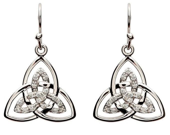 Trinity Knot Earrings, Celtic Jewelry, Celtic Knot Jewelry, Bridal Jewelry, Mom Gift, Irish Jewelry, Outlander Jewelry, Wife Gift