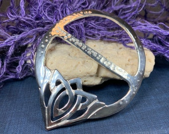Celtic Knot Scarf Ring, Scotland Jewelry, Pagan Jewelry, Ireland Jewelry, Celtic Jewelry, Mom Gift, Wife Gift, Sister Gift, Best Friend Gift