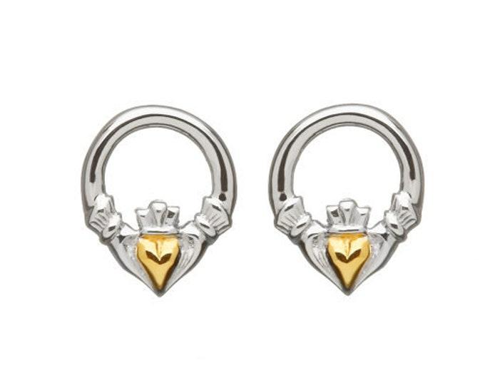 Claddagh Earrings, Celtic Jewelry, Celtic Knot, Heart Jewelry, Anniversary Gift, Irish Jewelry, Graduation Gift, Wife Gift, Girlfriend Gift