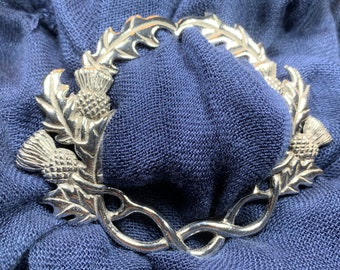 Thistle Scarf Ring, Scotland Jewelry, Celtic Jewelry, Nature Jewelry, Outlander Gift, Mom Gift, Wife Gift, Sister Gift, Friendship Gift