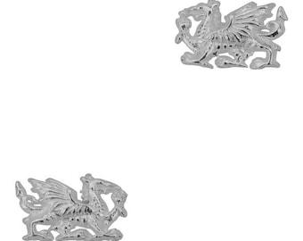 Sterling Silver Welsh Dragon Stud Earrings, Dragon Earrings, Wales, Gift for Her, Celtic Dragon, Silver Studs, Sister, Fantasy Earrings