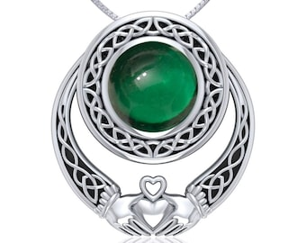 Forever Claddagh Sterling Silver Celtic Necklace