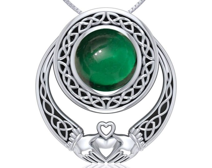 Claddagh Necklace, Celtic Jewelry, Irish Jewelry, Anniversary Gift, Birthday for Her, Celtic Necklace, Bridal Jewelry, Ireland Jewelry