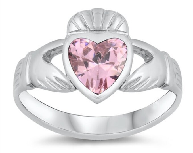 Claddagh Ring, Celtic Jewelry, Ireland Jewelry, Bridal Jewelry, Irish Gift, Heart Jewelry, Anniversary Gift, Girlfriend Gift, Wife Gift