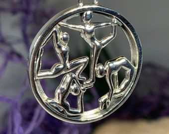 Yoga Pose Necklace, Om Jewelry, Chakra Jewelry, Yoga Jewelry, Boho Jewelry, Inspirational Jewelry, Lotus Jewelry, Anniversary Gift