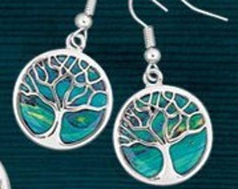 Celtic Colors Tree of Life Earrings, Gift for Her, Unique Earrings, Heather, Scotland Jewelry, Celtic Tree, Girlfriend, Beast Friend, Sister