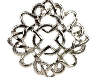 Celtic Love Knot Brooch, Scotland Jewelry, Outlander Jewelry, Mary Queen of Scots, Heart Jewelry, Celtic Brooch, Anniversary Gift