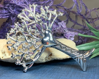 Tree of Life Brooch, Celtic Jewelry, Irish Jewelry, Celtic Brooch, Celtic Pin, Mom Gift, Anniversary Gift, Heart Pin, Friendship Gift