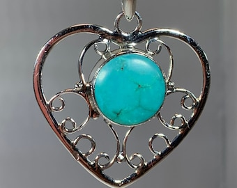 Turquoise Love Necklace, Celtic Knot Jewelry, Celtic Jewelry, Anniversary Gift, Heart Jewelry, Love Jewelry, Friendship Gift, Mom Gift