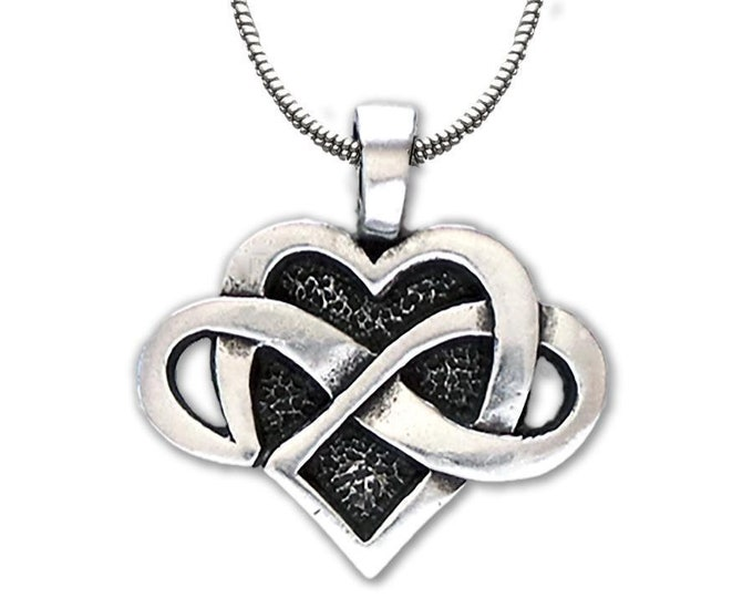 Infinity Heart Necklace, Celtic Necklace, Heart Pendant, Daughter, Gift for Her, Wife, Sister, Mother, Easter, Anniversary, Graduation