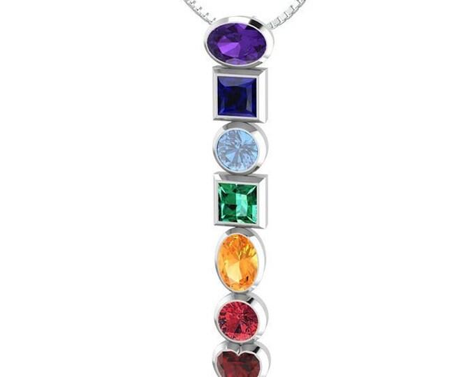Rainbow Necklace, Nature Necklace, Chakra Jewelry, Yoga Jewelry, Memorial Jewelry, Inspirational Jewelry, Rainbow Jewelry, Anniversary Gift