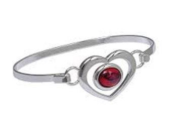 Heart Bracelet, Celtic Jewelry, Scotland Jewelry, Anniversary Gift, Graduation Gift, Bangle Bracelet, Best Friend Gift, Heart Jewelry