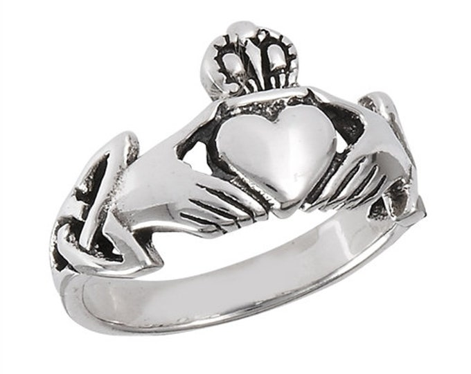 Claddagh Ring, Celtic Jewelry, Ireland Ring, Celtic Knot Jewelry, Irish Ring, Irish Dance Gift, Anniversary Gift, Bridal Ring, Trinity Knot
