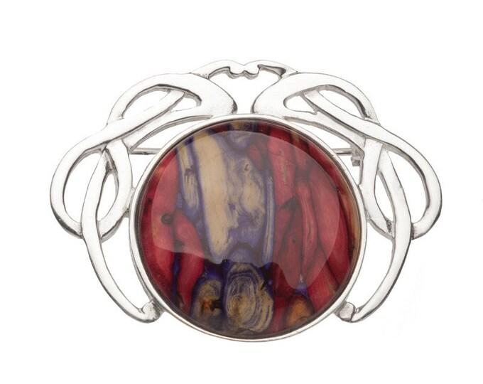 Scotland Heather Celtic Brooch, Scotland Jewelry, Celtic Pin, Bride Pin, Scarf Pin, Heather Jewelry, Celtic Jewelry, Celtic Knot, Wiccan Pin