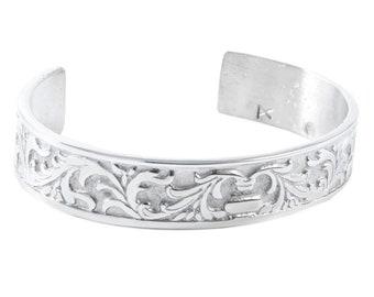 Filigree Pewter Bracelet, Celtic Jewelry, Bangle Bracelet, Scotland Jewelry, Ireland Jewelry, Wife Gift, Girlfriend Gift, Sister Gift