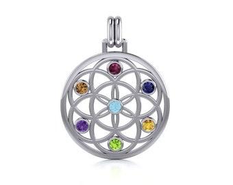 Rainbow Necklace, Mandala Necklace, Chakra Jewelry, Yoga Jewelry, Celtic Knot Jewelry, Inspirational Jewelry, Rainbow Jewelry, Mom Gift