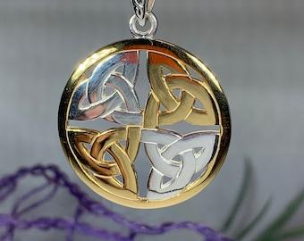 Trinity Knot Necklace, Irish Jewelry, Celtic Knot Jewelry, Triquetra Jewelry, Celtic Jewelry, Anniversary Gift, Scotland Jewelry