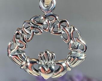 Claddagh Necklace, Celtic Jewelry, Irish Jewelry, Heart Pendant, Ireland Gift, Anniversary Gift, Trinity Knot Jewelry, Celtic Knot Jewelry