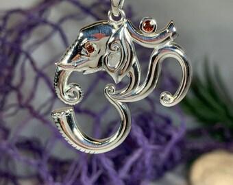 Om Ganesh Necklace, Om Jewelry, Chakra Jewelry, Yoga Jewelry, Boho Jewelry, Inspirational Jewelry, Ganesh Jewelry, Anniversary Gift