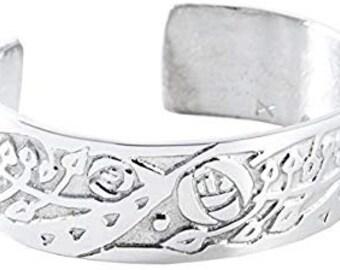 Celtic Flower Bracelet, Celtic Jewelry, Bangle Bracelet, Scotland Jewelry, Mackintosh Jewelry, Wife Gift, Girlfriend Gift, Viking Jewelry