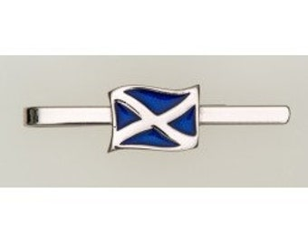 Scotland Flag Tie Bar, Celtic Jewelry, Dad Gift, Gift for Him, Men's Jewelry, Groom Gift, Best Man Gift, Celtic Tie Clip, Scotland Flag