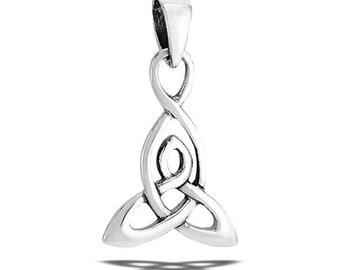 Mother's Knot Necklace, Celtic Knot Jewelry, Irish Jewelry, Mom Gift, Trinity Knot Jewelry, Wiccan Jewelry, Mother & Child Jewelry