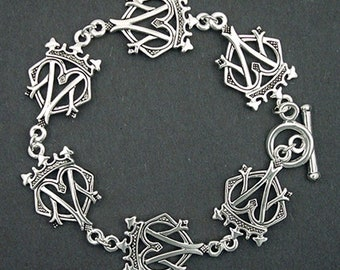 Pewter Mary Queen of Scots Luckenbooth Bracelet