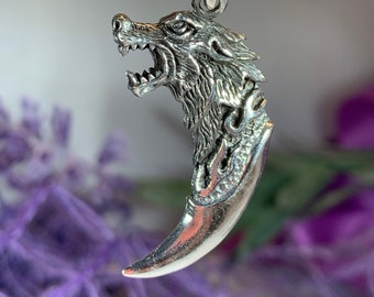 Wolf Necklace, Viking Jewelry, Celtic Jewelry, Gift for Him, Norse Jewelry, Pagan Jewelry, Animal Jewelry, Claw Jewelry, Wiccan Jewelry
