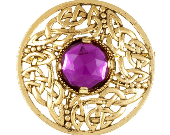 Celtic Knot Brooch, Celtic Jewelry, Irish Pin, Bride Pin, Anniversary Gift, Tartan Pin, Kilt Pin, Sister, Viking Jewelry, Norse Brooch