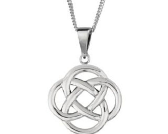 Dara Knot Celtic Necklace, Celtic Jewelry, Irish Jewelry, Mom Gift, Sister Knot, Celtic Knot Pendant, Wiccan Jewelry, Norse Jewelry