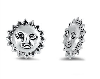 Sun Stud Earrings, Celestial Jewelry, Celtic Jewelry, Anniversary Gift, Wiccan Jewelry, Sun Jewelry, Beach Jewelry, Mom Gift, Sister Gift