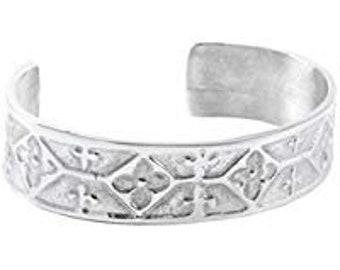 Celtic Flower Pewter Bracelet, Celtic Jewelry, Bangle Bracelet, Scotland Jewelry, Ireland Jewelry, Wife Gift, Girlfriend Gift, Sister Gift
