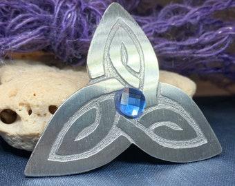 Trinity Knot Brooch, Celtic Jewelry, Irish Jewelry, Scotland Brooch, Celtic Brooch, Anniversary Gift, Celtic Knot Pin, Ireland Gift, Norse