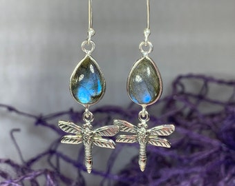 Dragonfly Earrings, Celtic Jewelry, Wiccan Jewelry, Inspirational Gift, Nature Jewelry, Sister Gift, Mom Gift, Best Friend Gift, Wife Gift